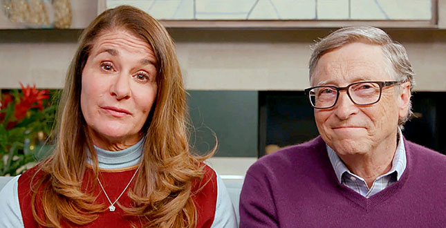 """UNSPECIFIED LOCATION - APRIL 18: In this screengrab, (L-R) Melinda Gates and Bill Gates speak during """"One World: Together At Home"""" presented by Global Citizen on April, 18, 2020. The global broadcast and digital special was held to support frontline healthcare workers and the COVID-19 Solidarity Response Fund for the World Health Organization, powered by the UN Foundation. (Photo by Getty Images/Getty Images for Global Citizen )"""