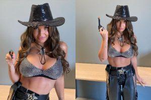 elettra-lamborghini-capelli-lunghi-amore-criminale-look-cowboy